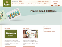 Panera Bread gift card purchase