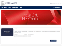 Estee Lauder gift card purchase