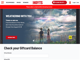 Hoyts Lux gift card balance check