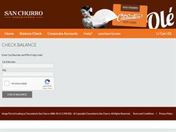 San Churro gift card balance check