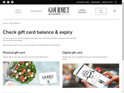 Gourmet Traveller Restaurant Digital gift card balance check