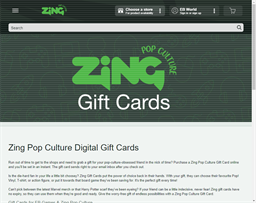 ZiNG Pop Culture gift card purchase