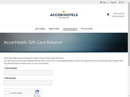 Accor Hotels gift card balance check