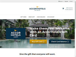 Accor Hotels gift card purchase