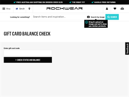 Rockwear gift card balance check