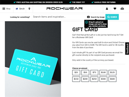 Rockwear gift card purchase