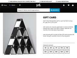 yd gift card purchase