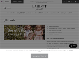 Bardot Junior gift card purchase