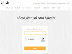 Dusk gift card balance check