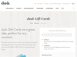 Dusk gift card purchase