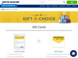 Joyce Mayne gift card purchase