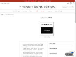 French Connection gift card purchase