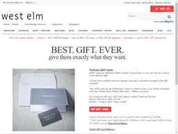 West Elm gift card purchase