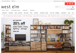 West Elm shopping