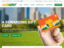 Subway gift card purchase