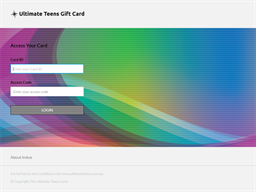 Ultimate Teens gift card balance check