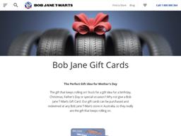 Bob Jane T-Marts gift card purchase