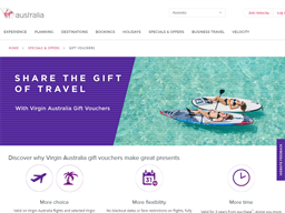 The Virgin Australia Group gift card purchase