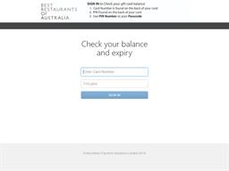 Best Restaurants Gift Card (Black) gift card balance check