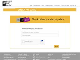 Best Restaurants Gift Card (Silver) gift card balance check
