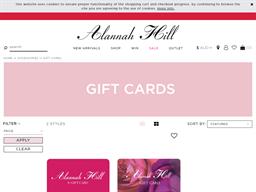 Alannah Hill gift card purchase