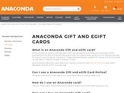 Anaconda gift card purchase