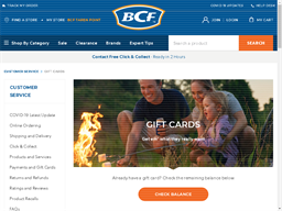 BCF Standard gift card purchase