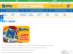 Betta Electrical gift card purchase