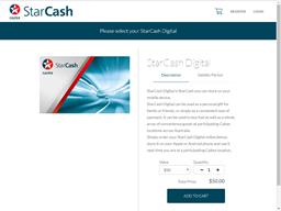 Caltex StarCash Digital gift card purchase