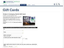 Camping World gift card purchase