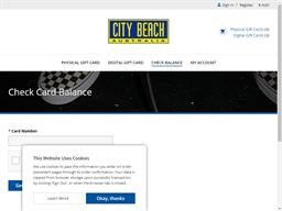 City Beach gift card balance check