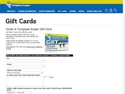Compleat Angler gift card purchase