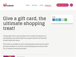 Eastlands Centre gift card purchase