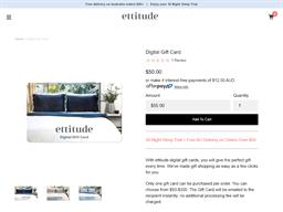 Ettitude gift card purchase