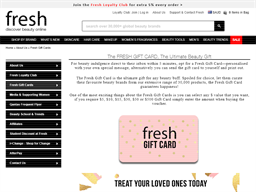 Fresh Fragrances and Cosmetics gift card purchase