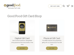 Good Food Physical gift card purchase