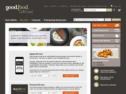 Good Food Digital gift card purchase