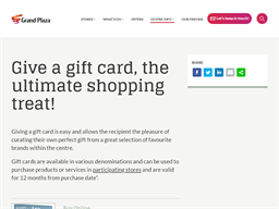 Grand Plaza Shopping Centre gift card purchase