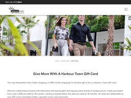 Harbour Town Outlet Gold Coast gift card purchase