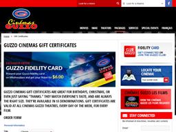 Cinemas Guzzo gift card purchase