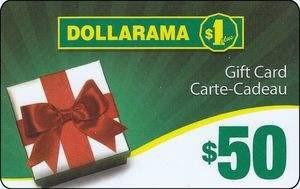 Dollarama gift card design and art work