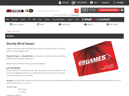 EB Games (Game Stop) gift card purchase
