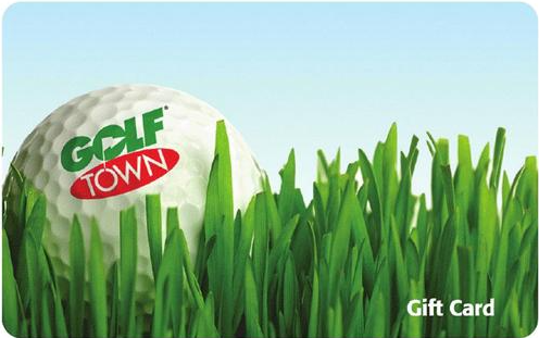 Golf Town gift card design and art work