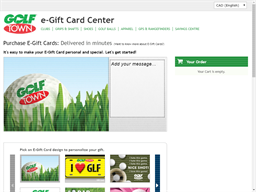 Golf Town gift card purchase