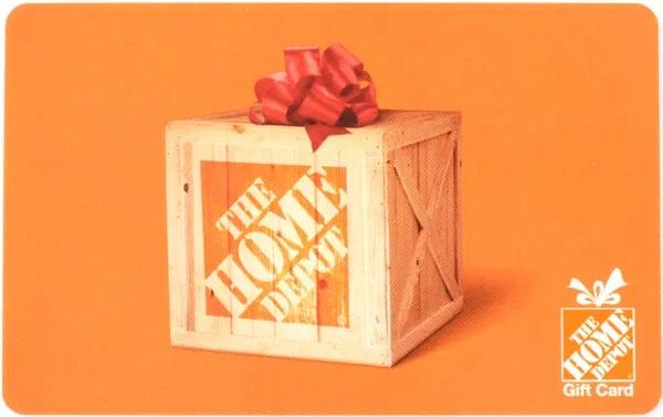 Home Depot gift card design and art work