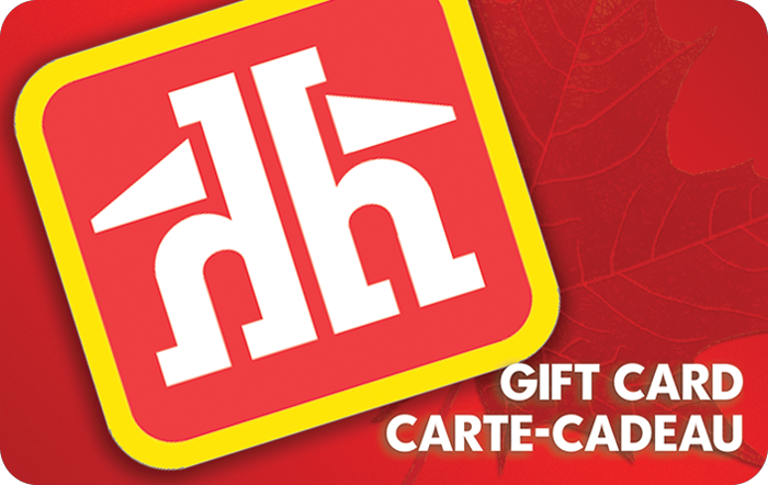 Home Hardware gift card design and art work