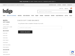 Chapters gift card balance check