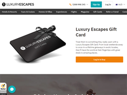 Luxury Escapes gift card purchase