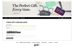 LCBO gift card balance check