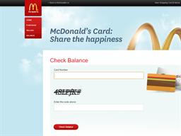 McDonald's Card gift card balance check